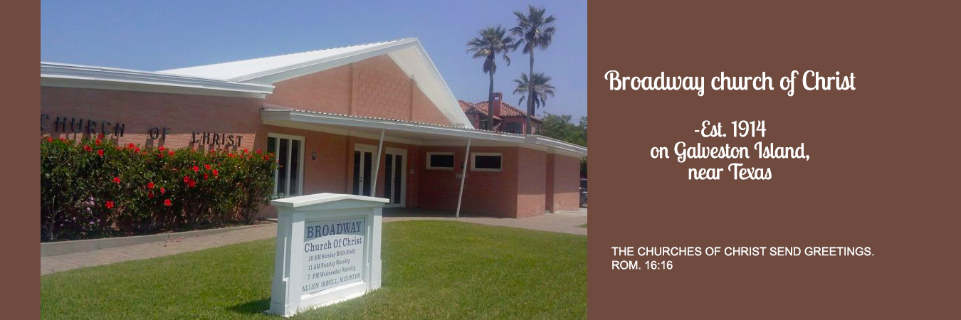 Broadway church of Christ on Galveston Island